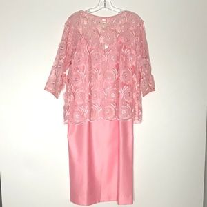 Vintage Torelli California Pink Nightgown Lace Top